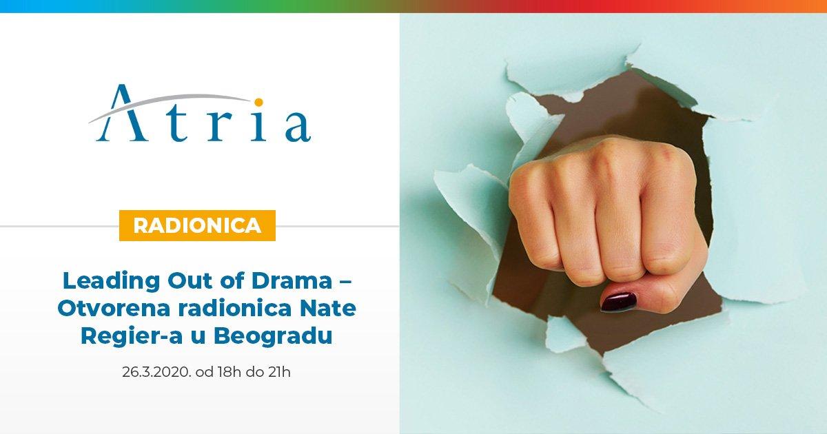 Leading Out of Drama – Otvorena radionica Nate Regier-a u Beogradu