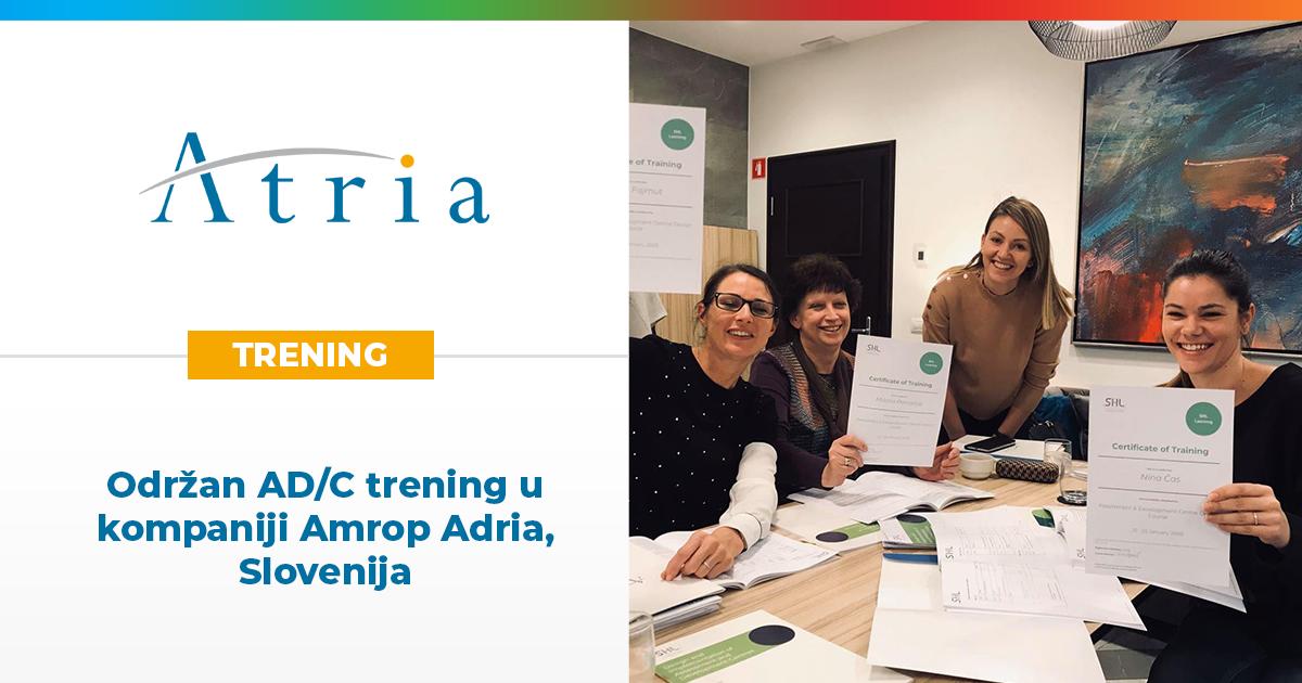Održan AD/C trening u kompaniji Amrop Adria, Slovenija