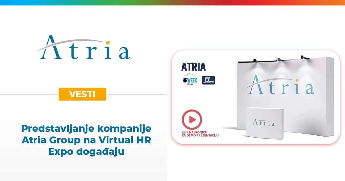 Predstavljanje kompanije Atria Group na Virtual HR Expo događaju