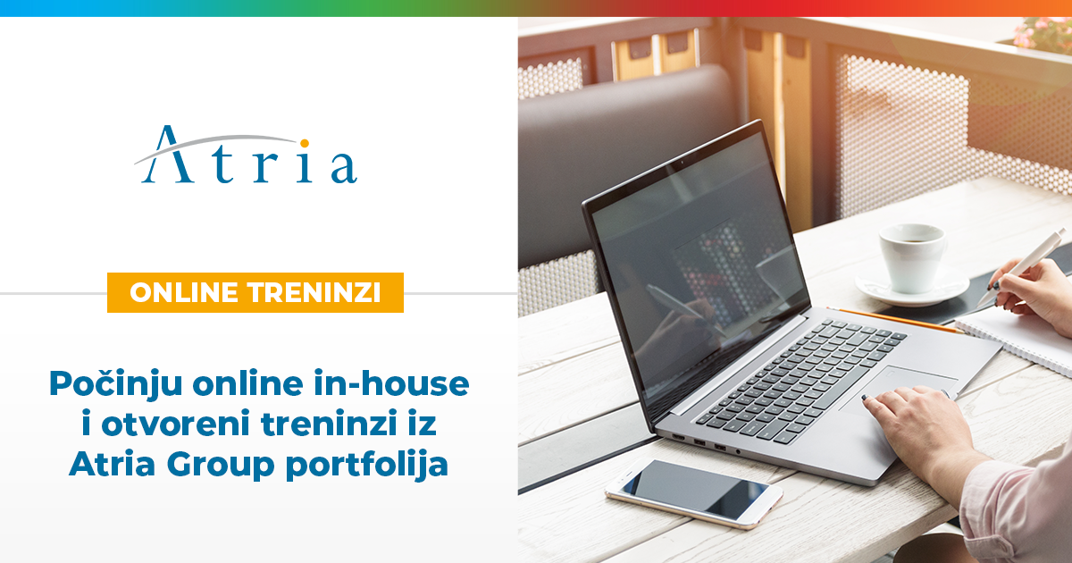 Počinju online in-house i otvoreni treninzi iz Atria Group portfolija