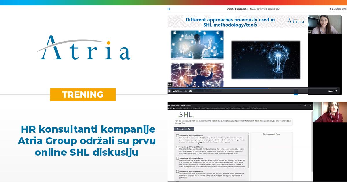 HR konsultanti kompanije Atria Group održali su prvu online SHL diskusiju