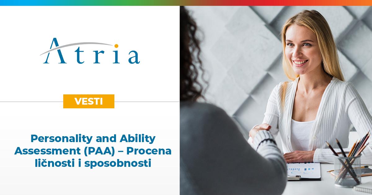 Personality and Ability Assessment (PAA) – Procena ličnosti i sposobnosti
