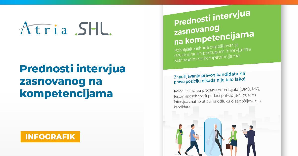 [INFOGRAFIK] Prednosti intervjua  zasnovanog  na kompetencijama